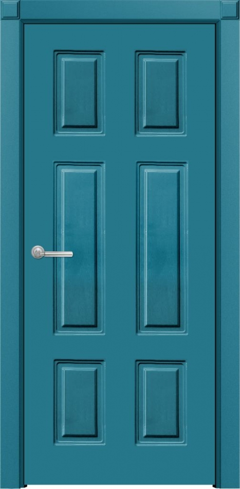 Двери темно синего цвета