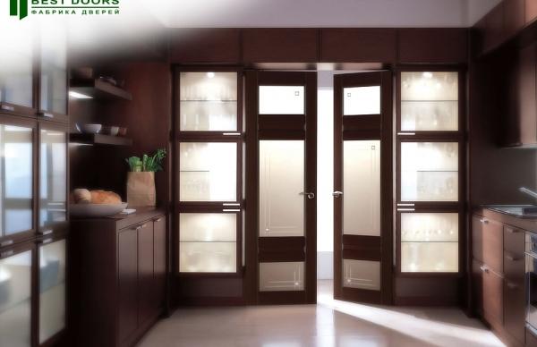Фото дверей межкомнатных со стеклом в интерьере фото